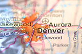 Denver, Colorado in the USA on the map — Stock Photo