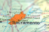 Sacramento, California in the USA on the map — Stock Photo