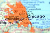 Chicago, Illinois in the USA on the map — Stock Photo