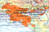 Los Angeles, California in the USA on the map — Stock Photo