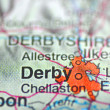 Derby in England on map — Stock Photo #39490843