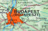 Budapest in Hungary on the map — Stock Photo
