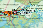A closeup of New Orleans, Louisiana in the USA on a map — Stock Photo