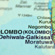 Stock Photo: Closeup of Colombo on Sri Lankon map