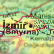 Closeup of Izmir in Turkey on map — Stock Photo #39773915
