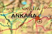 A closeup of Ankara in Turkey on a map — Stock Photo