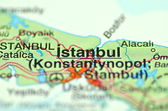 A closeup of Istanbul in Turkey on a map — Stock Photo