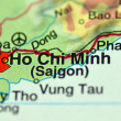 Stock Photo: Closeup of Ho Chi Minh in Vietnam on map