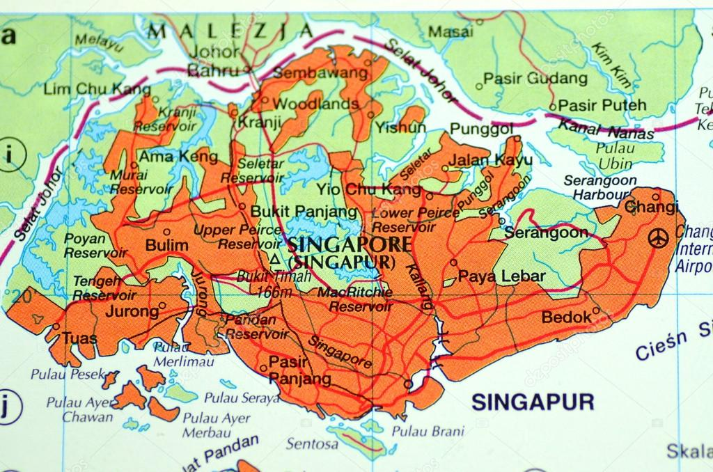 A closeup of Singapore in Asia on a map – Stock Editorial ...