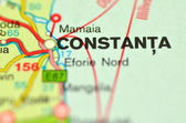 A closeup of Constanta in Romania on a map — Stock Photo