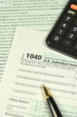 Closeup of us tax forms — Stock Photo