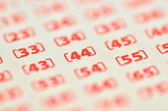Closeup of empty lottery ticket — Stock Photo