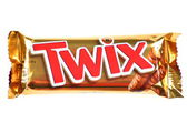 Twix cookie bars isolated on white background — Stock Photo