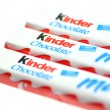 Kinder chocolate bars isolated on white background — Stock Photo #41872111