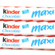 Stock Photo: Kinder chocolate bars isolated on white background