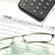 Stock Photo: Closeup of us tax form