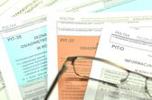 Closeup of polish tax forms — Stock Photo