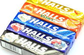 Variety of Halls cough drops — 图库照片