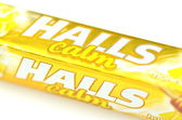 Halls cough drops isolated on white background — Foto Stock