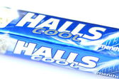 Halls cough drops isolated on white background — Stockfoto