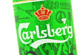 Carlsberg beer isolated on white background — Stock Photo