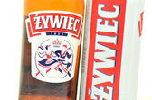 Zywiec beer isolated on white background — Stock Photo