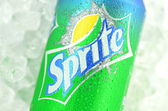 Can of Sprite drink on ice — Foto Stock