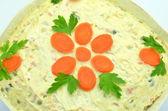 Salade de légumes cuits dans un bol — Zdjęcie stockowe