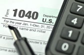 Closeup of us tax forms — Stock Photo