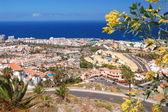Pittoreske uitstekende landschap van prachtige resort playa de las americas op tenerife, canarische eilanden, spanje — Stockfoto
