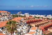 Picturesque outstanding landscape of beautiful resort playa de las americas on tenerife, canary islands, spain — Stock Photo