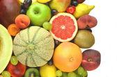 Scala aan vers en lekker fruit geïsoleerd op wit — Stockfoto