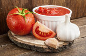 Tomatoes paste with spices — ストック写真