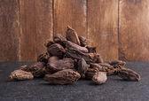 Black cardamom pods — Stock Photo