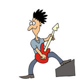 Cartoon Vector guitarist — Stock Vector