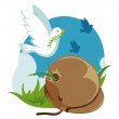 Royalty-Free Stock Imagen vectorial: Dove of peace
