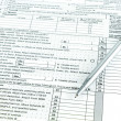 Tax form 1040 for tax year — Photo