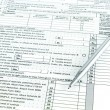 Tax form 1040 for tax year — Stock Photo