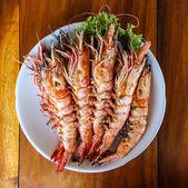 Roasted shrimps — Stock Photo