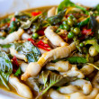 Razor clams spicy Stir-Fry — Stock Photo