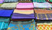 Laos silk Pattern of Laos art ,Product of handmade — Stock Photo