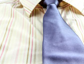 Man's shirt and blue tie isolated — Stock Photo