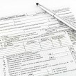 Tax form  for tax year — Foto Stock