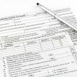 Stock Photo: Tax form for tax year