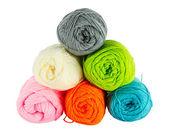 Colorful balls of knitting yarn — Foto Stock