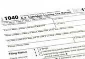 Tax form 1040 for tax year — Foto Stock