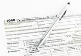 Tax form 1040 for tax year 2012 — Foto Stock