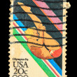 USA - CIRCA 1984: A stamp printed in USA from the Los Angeles Ol — Stock Photo