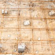 Steel rod, reinforcement before pouring concrete — Stock Photo