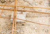 Steel rod, construction materials — Foto Stock
